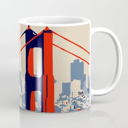 Golden gate bridge vector art Coffee Mug