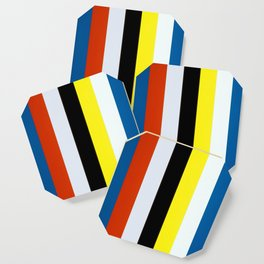 Ellsworth Kelly Red Yellow Blue White and Black Coaster