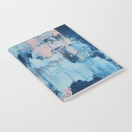 Sunbeam: a pretty abstract painting in pink, blue, and gold by Alyssa Hamilton Art Notebook