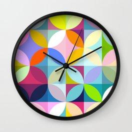 mid century geometry Wall Clock
