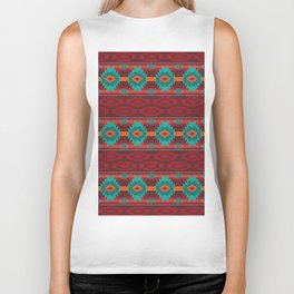 Southwestern navajo tribal pattern. Biker Tank