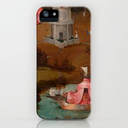 "Hieronymus Bosch ""The Last Judgment"" triptych (Bruges) left panel iPhone Case"