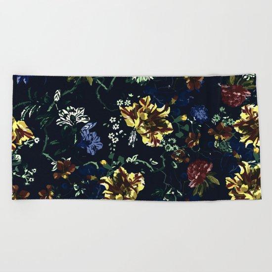 Botanical Dark Garden Beach Towel
