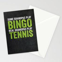 Tennis Grandfather Gift Idea Stationery Cards