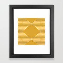 Geo (Yellow) Framed Art Print