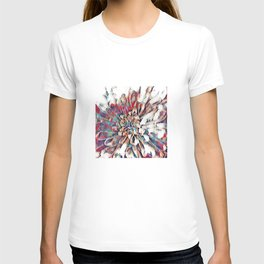 Japanese Inspired Lily Design Sketch T-shirt