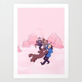 Rose Winter Art Print