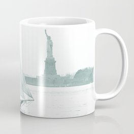 Statue of Liberty with Schooner Coffee Mug