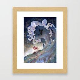 A fearless girl Framed Art Print