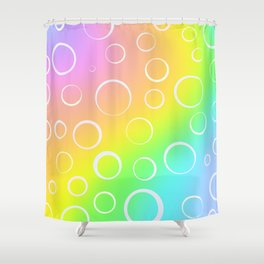 Colorful Rainbow Gradient Design! Shower Curtain