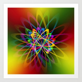 Abstract perfection - 102 Art Print