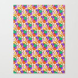 Color Hearts Canvas Print