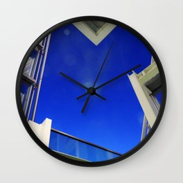 Blue Night Abstract Wall Clock