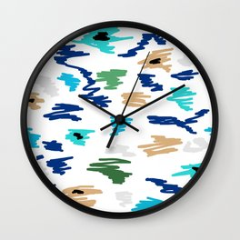 Abstract Doodle marker Wall Clock