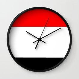 Flag of yemen 2 -yemen,اليَمَن ,Yemeni, Yemenite,Sabaeans,Aden, يمني Wall Clock