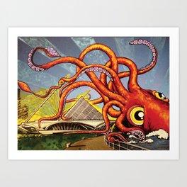 MILWAUKEE: What's Kraken, Milwaukee? Art Print