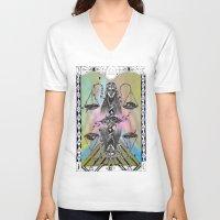 libra V-neck T-shirts featuring LIBRA by Caroline Vitelli GOODIES