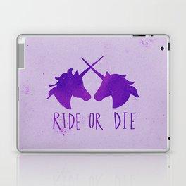 Ride or Die x Unicorns x Purple Laptop & iPad Skin