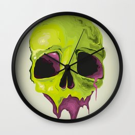 Liquid Skull Wall Clock