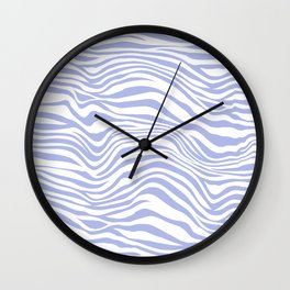 White & Purple Animal Stripes Wall Clock