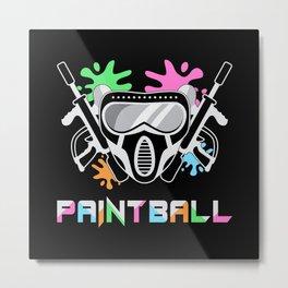 Paintball Airsoft Painter Softair Gotcha Gift Idea Metal Print