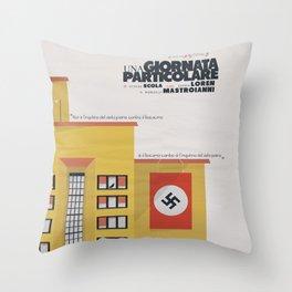 Una giornata particolare, alternative movie poster, Marcello Mastroianni, Sophia Loren, italian film Throw Pillow