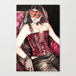 Mask Queen Canvas Print