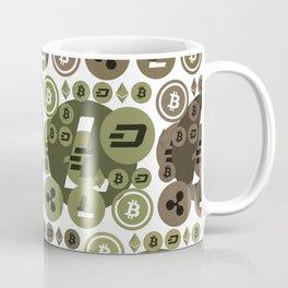 Ethereum, Bitcoin, Dash, Ripple, Litcoin Coffee Mug