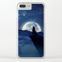 lonely wolf Clear iPhone Case