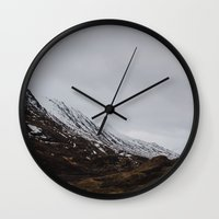 scotland Wall Clocks featuring Glencoe, Scotland by Diana Eastman