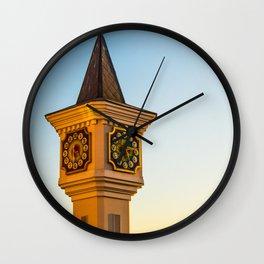 fabulous clock tower Wall Clock