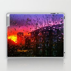 Sunset through water droplets Laptop & iPad Skin