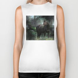 Horse In The Woods By Annie Zeno  Biker Tank