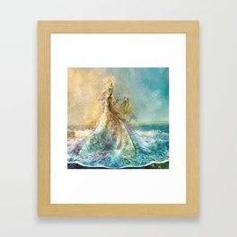 Shell Maiden Framed Art Print