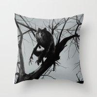 werewolf Throw Pillows featuring Werewolf by Alex Perkins