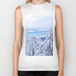 White out #mountains #winter Biker Tank