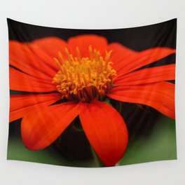 Red African Daisy Wall Tapestry