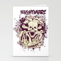 nightmare Stationery Cards featuring Nightmare by Tshirt-Factory