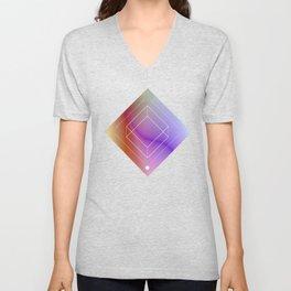 Inverted square geometry Unisex V-Neck