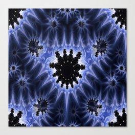 Blue Microbes Canvas Print