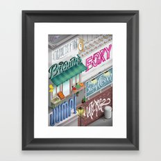 City Pangrams Framed Art Print