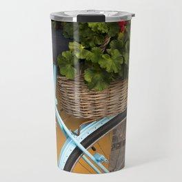 Bicycle Geraniums Travel Mug