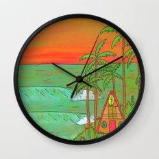 A Frame Dream Home Surf Paradise Wall Clock