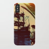 pirate ship iPhone & iPod Cases featuring pirate ship by Ancello