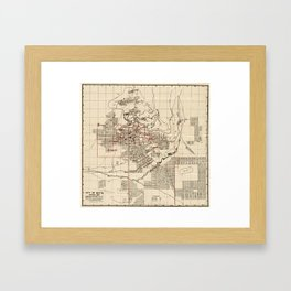 Vintage Map of Butte Montana (1909) Framed Art Print