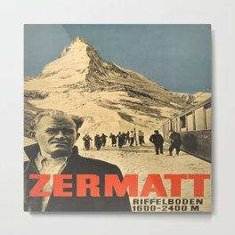 Vintage poster - Zermatt Metal Print