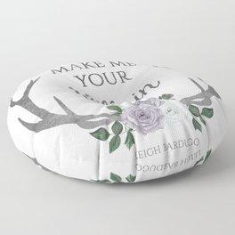 Make me your villain - The Darkling quote - Leigh Bardugo - White Floor Pillow