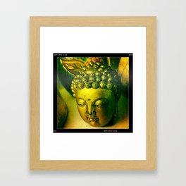 buddha head Framed Art Print