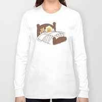 bed Long Sleeve T-shirts featuring Breakfast In Bed  by Terry Fan