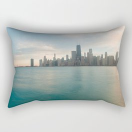 Tonight -Chicago Skyline Photography Rectangular Pillow